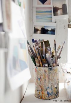 A New Collection from Zoë Pawlak Dibujos Zentangle Art, Art Studio Room, Art Hoe Aesthetic, Atelier D Art, Paint Brushes, Art Studios, Watercolor Art, Art Drawings, Art Photography