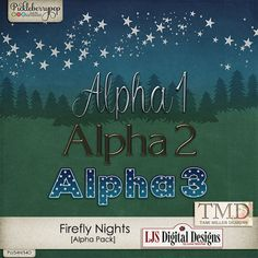 Pickleberrypop :: New Releases - Sept 12 :: Firefly Nights Alpha Pack by Tami Miller Designs and LJS Digital Designs