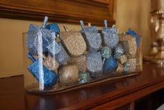 #Hanukkah glittered #dreidles