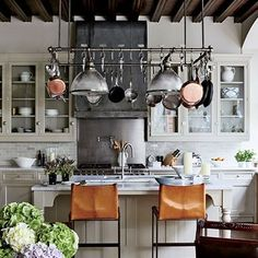 Pot Racks: The Ultimate In Chic Kitchen Organization :: Architectural Digest