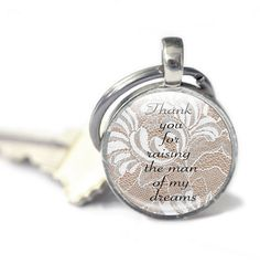 Mother of the Groom Gift Keyring Lace Keyring Key by GlassCharmed, £9.99