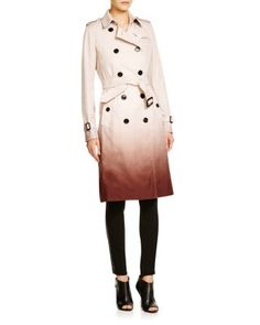 Burberry London Kensington Ombré Trench Coat | Bloomingdale's