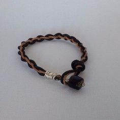 Leather Braided Bracelet Unisex Modern surfer Style #La3DesignsHandmade #Fashion