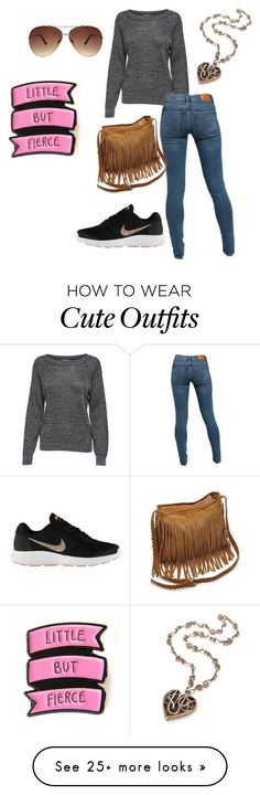 """""""Cute Outfit"""" by poochie-lover on Polyvore featuring JDY, Levi's, WithChic, NIKE and Ashley Stewart"""