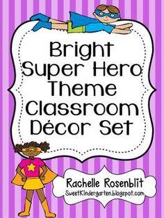 Bright Superhero Theme Classroom Decor Set