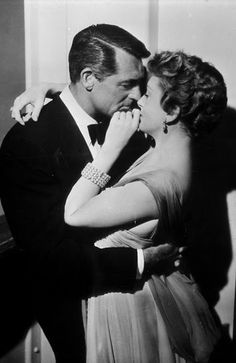 Cary Grant and Deborah Kerr -- An Affair to Remember .. this movie makes me think of Sleepless in Seattle more than An Affair to Remember .... ha