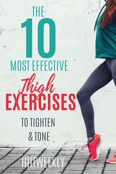Get rid of unwanted thigh fat with these 10 exercises dexsigned to target your inner thighs and glutes for more tighter and toned legs. Plus get the kettlebell thigh and butt workout to lose wieght in your thighs form home. Lose Thigh Fat Fast, Lose Belly Fat, How To Lose Weight Fast, Reduce Weight, Lose Fat, Thigh Exercises, Fat To Fit, Body Weight, Weight Loss Tips