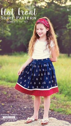 Red White and Blue Flat Front Skirt. (free skirt pattern for girls, sizes 2 to … Red White and Blue Flat Front Skirt. (free skirt pattern for girls, sizes 2 to Girls Skirt Patterns, Kids Patterns, Sewing Patterns, Sewing Designs, Clothing Patterns, Quilt Patterns, Pajama Day, Blue Flats, Different Dresses