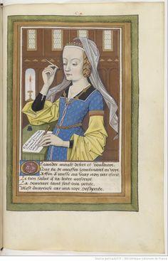 Ovide, Héroïdes ou Epîtres, traduction d'Octavien de Saint-Gelais, f°110r - Lettre de Héro à Léandre.