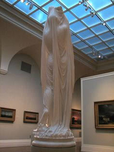 ''Undine Rising from the Waters'', (back) ca. 1880–1892, by Chauncey Bradley Ives (marble so thin you can see light through it!)