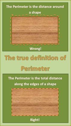 I prefer to use this definition: The perimeter of a shape is the total distance along its edges.