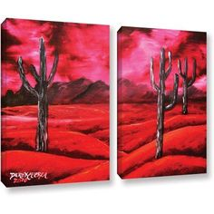 ArtWall Derek Mccrea Southwestern 2-Piece Gallery-wrapped Canvas Set, Size: 36 x 48, Black