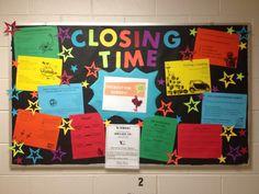 My closing board!! resident advisor / resident assistant / RA bulletin board
