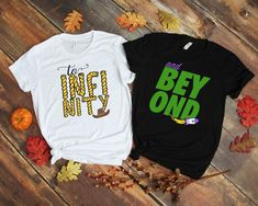 Toy Story Shirt To Infinity And Beyond Woody Buzz Disney Vacation Shirts, Matching Disney Shirts, Family Vacation Shirts, Matching Couple Shirts, Disney Couples, Disney Shirts For Family, Family Shirts, Disney Trips, Couple Tshirts