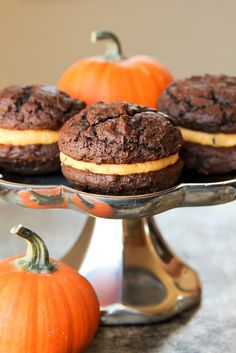 Chocolate Pumpkin Whoopie Pies
