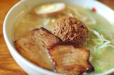Totto miso ramen with a side of spicy bamboo shoot... mMmm!!!