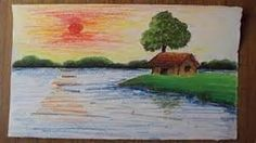 Play - How-to-draw-a-village-landscape-in-oil-pastel-part-2