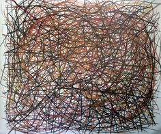 Disordered City. Pastel on paper. By James de Villiers