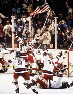 The impossible had been accomplished, and it was time to celebrate. The United States upset the unbeatable Soviet Union 4-3 on Mike Eruzione's game-winning goal to finish Miracle on Ice and advance to the gold medal game (which it also won).