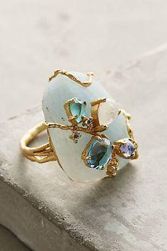 Aquamarine Floweret Ring