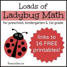 Ladybug Math for Preschool, Kindergarten & 1st Grade - The Measured Mom