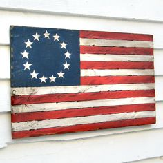 US Flag Sign American 13 Stars Historic by SlippinSouthern on Etsy, $137.00