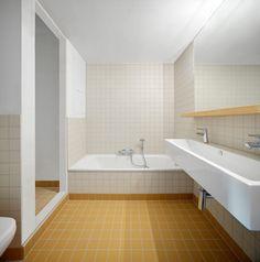 Gallery of Collective housing AGVC / De Gouden Liniaal Architecten - 8 Bathroom Spa, Bathroom Toilets, Bathroom Renos, Bathroom Interior, Bathroom Inspiration, Interior Inspiration, Walk In Shower Designs, Bathroom Design Small, Wet Rooms