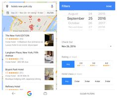 Google offers new hotel search filters, deal labels and airline price tracking. New tools intended to respond to mobile travel traffic growth.