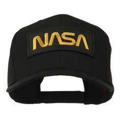Black NASA Embroidered Patched High Profile Cap - Black OSFM at Amazon Men's Clothing store: