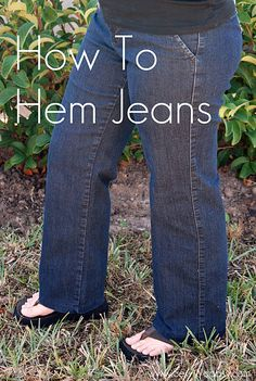 As a petite (i.e., short) person, I think it's time for me to learn to hem my jeans.
