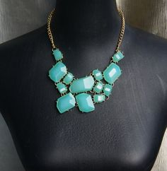 light blue bubble necklaceholiday partybridesmaid by audreyjewelry, $25.00