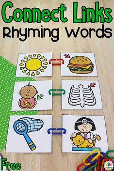 Connect Links Rhyming Activity: Pre-Reading Skills Activity