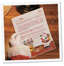 Free printable letters to fill in TO and FROM Santa.  Too cute.