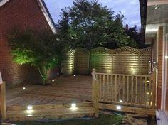 Decking Lights - Stirling - Stirling Electrical Services Ltd. Deck Lighting, Stirling, Garden Bridge, Decking, Outdoor Structures, Lights, Places, Outdoor Decor, Photos