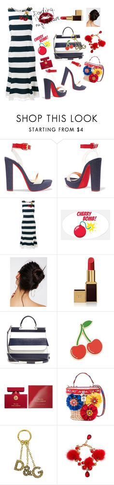 """Cherry pickers"" by ellenfischerbeauty ❤ liked on Polyvore featuring Christian Louboutin, Dolce&Gabbana, Free People, Tom Ford and Georgia Perry"