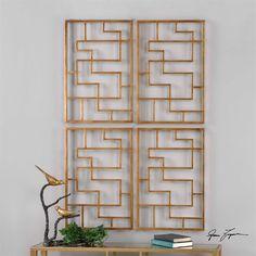 Uttermost Quaid Gold Wall Art, S/2