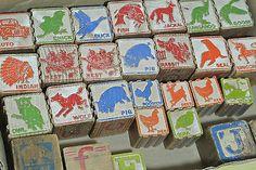 Antique Vintage Wooden Alphabet Block Animal Car Picture Wood Ridged Estate | eBay