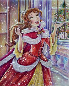 Belle (Christmas time) by Alena-Koshkar.deviantart.com on @DeviantArt