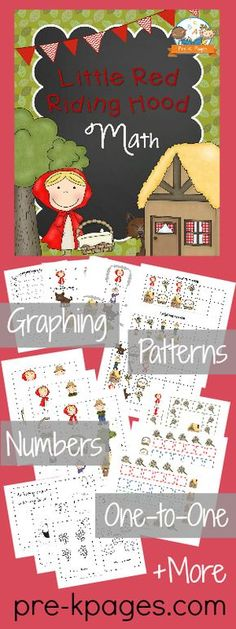 Little Red Riding Hood Printable Math Activities for Preschool and Kindergarten