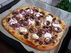 Őszi kenyérlángos kecskesajttal Aioli, Baguette, Vegetable Pizza, Vegetables, Rolls, Bead, Beads, Buns, Vegetable Recipes