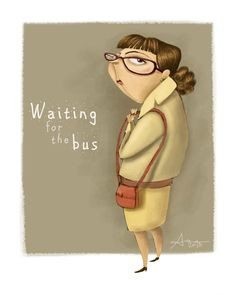 Waiting for the bus by Ana Varela, via Behance