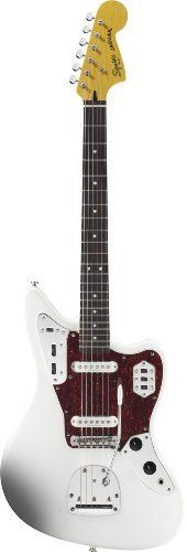 Squier Vintage Modified Series 302000505 Jaguar Electric Guitar by Squier by Fender. $299.99. An authentically styled Jaguar now joins the Vintage Modified family, with present-day touches including sharp, clear Duncan Designed pickups and a modern fingerboard radius. Squires new Vintage Modified Jaguar rocks the models distinctive hallmarks, too - such as the 24-Inch scale, dual-circuit switching and controls, floating-vibrato bridge and classically colorful Surf Green, Candy Ap...