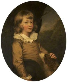 Portrait of an Unknown Boy with a Spaniel attributed to William Beechey