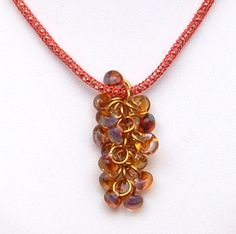 Shaggy Loops with Teardrops Pendant Tutorial