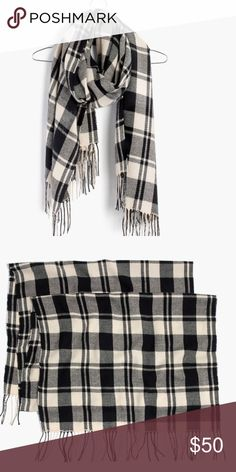 "madewell • patterson plaid scarf NWT • super soft and so cozy • forever-perfect black and white plaid • acrylic/wool • dimensions: 78 3/4""L x 23 5/8""W • stock photos • no trades • 0026000 Madewell Accessories Scarves & Wraps"