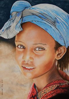 Awesome portrait work by Colombe Cambourne!so full of life Black Love Art, Black Girl Art, Art Girl, African American Art, African Art, Black Art Pictures, Baby Art, Watercolor Portraits, Graffiti Art