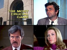 Robert Culp (unusually with moustache), Susan Howard, Peter Falk. Tom Conway, The Winslow, The Last Star, David Burke, Peter Falk, English Gentleman, Jeremy Brett, Dr Watson, Truth And Justice