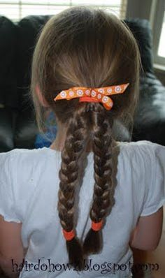 Hairdo How-to: Lesson 62: Ponytail with Two Braids