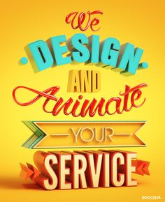 Animate your Service Ad on Behance #3Dtypography #3D_typography #3D #typography