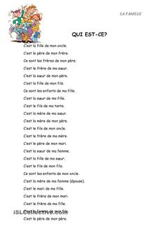 One-click print document French Language Lessons, French Language Learning, French Lessons, French Teacher, Teaching French, How To Speak French, Learn French, French Basics, French Worksheets